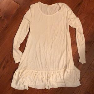 White, Dressy Long Sleeve Tee (Size S)